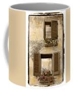 Orvieto Window Polaroid Coffee Mug