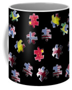 Jigsaw Puzzle Flag Pieces Coffee Mug