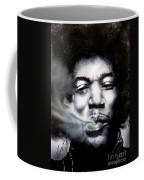 Jimi Hendrix-burning Lights-2 Coffee Mug by Reggie Duffie