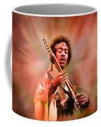 Jimi Hendrix Electrifying Guitar Play Coffee Mug