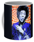 Jimi Hendrix Orange And Blue Coffee Mug