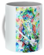 Jimi Hendrix Playing The Guitar.2 -watercolor Portrait Coffee Mug