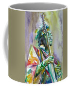 Jimi Hendrix Playing The Guitar.5 -watercolor Portrait Coffee Mug