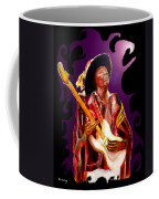 Jimi Hendrix Variations In Purple And Black Coffee Mug