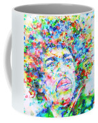 Jimi Hendrix  - Watercolor Portrait.3 Coffee Mug