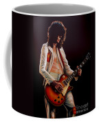 Jimmy Page In Led Zeppelin Painting Coffee Mug