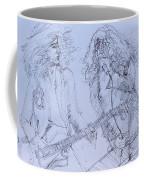 Jimmy Page And Robert Plant Live Concert-pen Portrait Coffee Mug