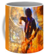 Jimmy Page Playing Guitar With Bow Coffee Mug