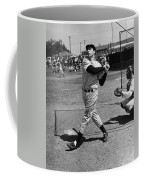 Joe Dimaggio Hits A Belter Coffee Mug