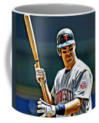 Joe Mauer Painting Coffee Mug