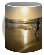 Jogging At Sunrise By Kaye Menner Coffee Mug