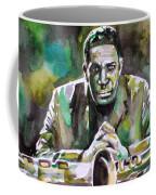 John Coltrane - Watercolor Portrait Coffee Mug