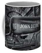 John Deere Tractor Bw Coffee Mug by Susan Candelario