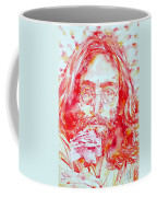 John Lennon With Rose Coffee Mug