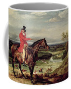 John Levett Hunting In The Park At Wychnor Coffee Mug