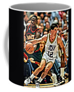 John Stockton Coffee Mug by Florian Rodarte