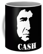 Johnny Cash Black And White Pop Art Coffee Mug