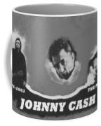Johnny Cash Coffee Mug by David Millenheft