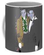 Johnny Cash  Elvis Presley Backstage Memphis Tn  Photographer Unknown  Coffee Mug