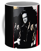 Johnny Cash Multiples  Trench Coat Sitting Collage 1971-2008 Coffee Mug