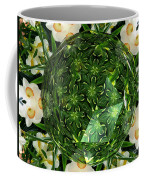 Jonquil Kaleidoscope Under Polyhedron Glass Coffee Mug