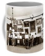 Joseph Kurtz Oliver Artist In His Studio Monterey Circa 1905 Coffee Mug