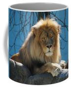 Joshua The Lion On His Rock Coffee Mug