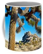 Joshua Tree And Jumbo Rocks By Quail Springs In Joshua Tree Np-ca Coffee Mug