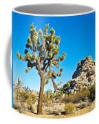 Joshua Tree And Jumbo Rocks Near Quail Spring In Joshua Tree Np-ca  Coffee Mug