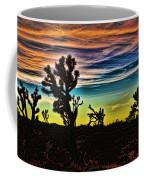Joshua Trees In Cima Valley Coffee Mug