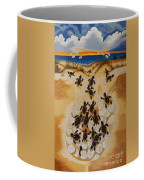 Journey To The Millennium Hand Embroidery Coffee Mug