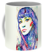 Juliette Greco - Colored Pens Portrait Coffee Mug