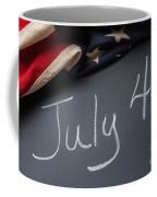 July 4 Sign On Chalkboard Coffee Mug
