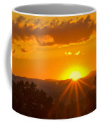 Jump Off Rock Sunset Flare Coffee Mug