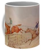 Jumping A Fence Coffee Mug