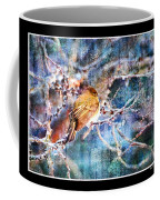 Junco On Icy Branch - Digital Paint II Coffee Mug