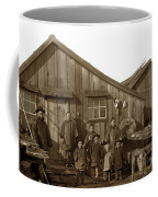 Jung San Choy And Chinese Family Pescadero Village Pebble Beach California Circa 1895 Coffee Mug