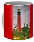 Jupiter Lighthouse Coffee Mug by Debra and Dave Vanderlaan
