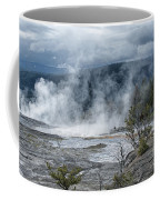 Just Before The Storm - Mammoth Hot Springs Coffee Mug by Sandra Bronstein