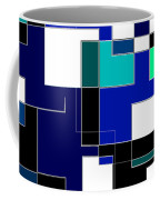 Just Colors And Lines Blue Coffee Mug
