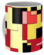 Just Colors And Lines Red Coffee Mug