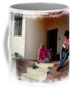 Just Sitting 3 - Family Portrait - Indian Village Rajasthani Coffee Mug