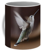 Juvenile Female Anna's Hummingbird In Flight Coffee Mug