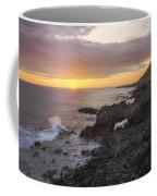 Kaena Point Sea Arch Sunset - Oahu Hawaii Coffee Mug