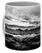 Kaikoura Coast New Zealand In Black And White Coffee Mug