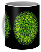 Kaleidoscope Triptych Of Glowing Circuit Boards Coffee Mug