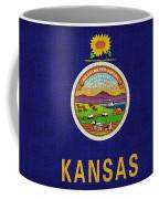 Kansas State Flag Coffee Mug by Pixel Chimp