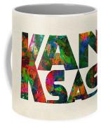 Kansas Typographic Watercolor Map Coffee Mug