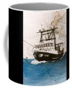 Karis Trawl Fishing Boat Nautical Chart Art Coffee Mug
