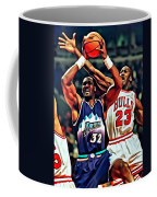 Karl Malone Vs. Michael Jordan Coffee Mug